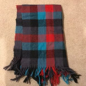 Winter plaid scarf